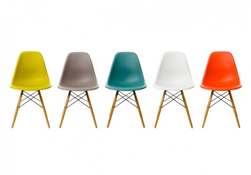 Chaises EAMES DSW Vitra pieds clairs - Eulalie m\'a dit