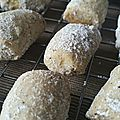 Sablés à la vanille ou vanille kipferl de christophe felder