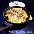 Omelette flambée aux pommes
