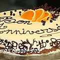Cheese-cake / mandarine et chocolat blanc (sans cuisson)