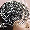 Voilette amovible mariée, un modèle à porter seul ou avec un bijou de tête mariage