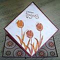 carte souflet tulipes