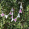 Location decoration guirlande fanion dentelle mariage bapteme communion anniversaire
