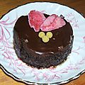 Ronds de chocolat noir