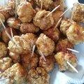 Boulettes de poulet laquées au soja