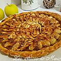 Tarte aux pommes à la crème de marrons