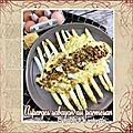 Asperges sabayon au parmesan crumble de noisettes