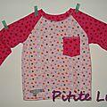 T-shirt manches raglan 1 Mimosa