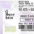 The Nits - Vendredi 20 Avril 2018 - Le <b>Petit</b> <b>Bain</b> (Paris)