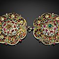 AN OTTOMAN ENAMELLED AND GEM-SET <b>BUCKLE</b>, TURKEY, CIRCA 1700