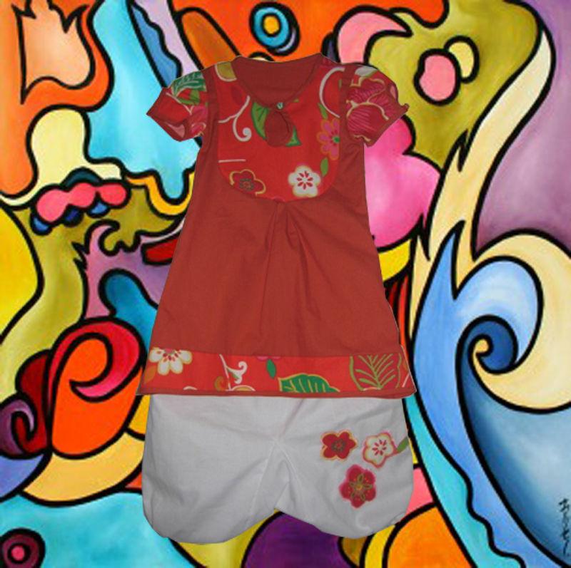 robe tunique rouge copie