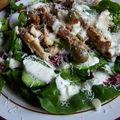 Salade un peu césar au poulet ...un peu à ma façon