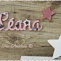 Prénom en bois découpé : <b>décoration</b> <b>chambre</b> <b>bébé</b> thème étoile
