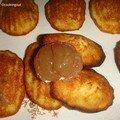 Les madeleines aux marrons glacés et pommes