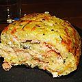 Roule courgette & pomme de terre, boursin & saumon fume