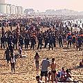 Incident sur la plage d'<b>Ostende</b>: la police intervient en nombre! (photos et vidéos)
