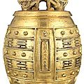 Chinese gilt-bronze bell achieves $482,500 at doyle new york's asian works of art sale