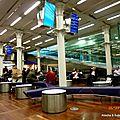 Salle d'attente Eurostar St Pancrass