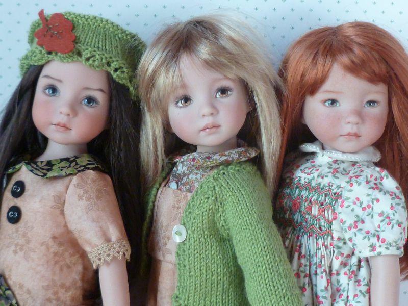 mes trois little darling: Tiffany, Léonie et Annie