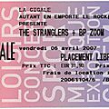 The Stranglers - Vendredi 6 Avril 2007 - La <b>Cigale</b> (Paris)