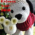 Nouvel an chinois avec le chien de terre
