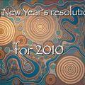 Les résolutions 2010!