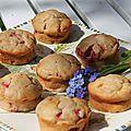 Muffins aux fraises a l'huile d'olive
