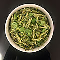 Trofie au basilic, <b>fèves</b> et pistaches