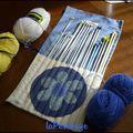 trousse range aiguille à tricoter dépliée