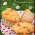 Muffins aux fraises.