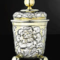 A german parcel-gilt silver covered beaker, hans paulus hauer, nuremburg, circa 1670
