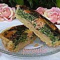 <b>Quiche</b> parvée ou halavi aux épinards et au saumon fumé # 2