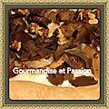 Tarte fine aux oignons, champignons, gorgonzola et noix/ bataille food #33