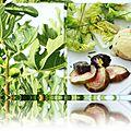 Feuillété de chèvre aux figues sur lit de salade.....
