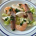 Salade de produits de la mer à l'huile d'olive