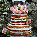 Naked cake aux fruits rouges, chantilly au mascarpone