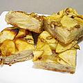 Gâteau invisible aux pomme, miel et noix