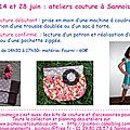Pour changer des soucis avec le rsi... info sur les derniers ateliers avant les wwwacances !