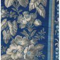 <b>feuillages</b> dégradé de gris sur fond bleu