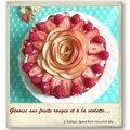 Génoise aux fruits rouges parfumée à la violette…