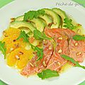 Salade de saumon mariné aux agrumes