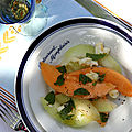 Salade de melons, mozzarella et menthe