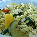 Salade de pâte courgette et mozzarella