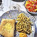 <b>Tortillas</b> farcies au poulet, poivrons et fromage