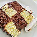 Gâteau damier vanille-chocolat
