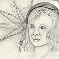Dessin portrait de star: odile vuillemin