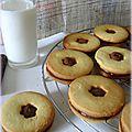 Sablés à la noisette fourrés au nutella