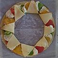 Tarte soleil <b>tomate</b> mozza tricolore