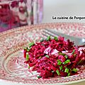 Betterave rouge et sa vinaigrette