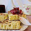 Crumpets et confit de coings à la cardamome et eau de rose, un tea time entre orient et occident pour la foodista challenge#12